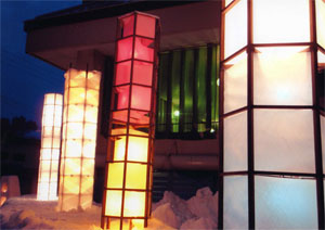 市長賞:「結の田植枠と燈籠 」 雪明り雪中行群実行委員会