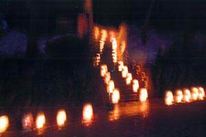 奨励賞:「天神様の灯り 」 小平尾こども会 育成会