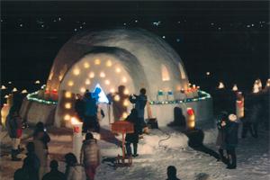 銅賞:「スノーランド(かまくらの中でダイナミックに変化する巨大万華鏡)」 今泉雪灯かりまつり実行委員会