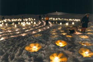 銀賞:「尾瀬の輝きが雪原に瞬く」 今泉雪灯かりまつり実行委員会