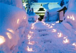 奨励賞:目黒邸雪灯篭ロード2014 須原コミュニティ協議会