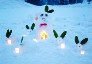 銅賞:ふなっしーと雪うさぎなっしー Anju