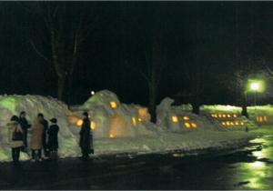 奨励賞:雪像で、3年生を応援しよう 小出中学校 1学年