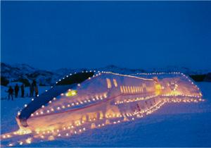 銀賞:はしれ北陸新幹線!ミッキーも歓迎しているよ!! 上条コミュニティ協議会雪まつり実行委員会