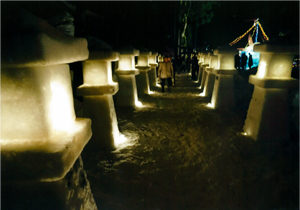 観光協会長賞:春日神社百八灯 雪の物語り 和長島 村祭り年行事