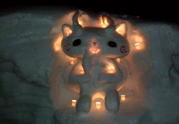 金賞:雪国にやってきた コマさん 雪遊び隊