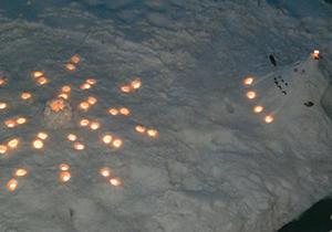 つなごて賞:トトロの素敵なプレゼント~輝き続ける雪花火~ ここ掘れ!かずくん