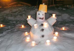 奨励賞:元気な雪だるま みずかみ りん