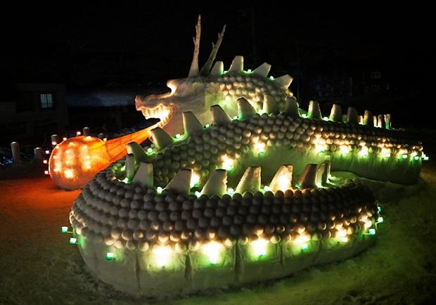 第15回アートコンテスト 金賞:疫病を撃退する龍神 今泉沿道の灯りまつり実行委員会