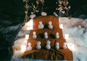 銀賞:雪だるま 三段飾り 髙野 俊治
